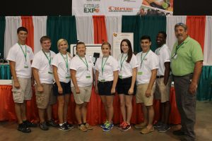2015 Florida FFA officers with Gary Cooper, AgNet Media's founder and president